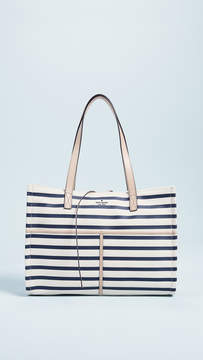 Kate Spade Canvas Mega Sam Tote - RICH NAVY MULTI - STYLE