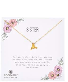 Dogeared Sister Hummingbird Charm Necklace