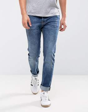 ONLY & SONS Slim Fit Jeans in Washed Blue Denim