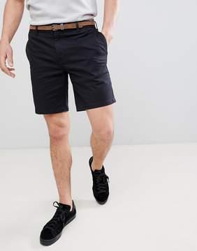 Pull&Bear Chino Shorts In Navy