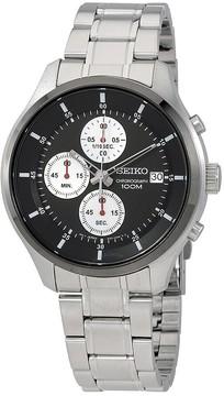 Seiko Neo Sports Black Dial Chronograph Men's Watch