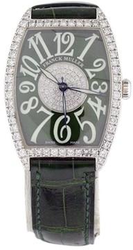 Franck Muller 2852 SC DP CD Casablanca Diamond 18K White Gold 31mm x 43mm Womens Watch