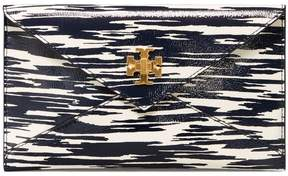 Tory Burch TURN-LOCK PATENT ENVELOPE POUCH - NAVY SPACE DYE - STYLE