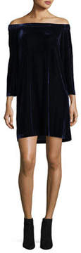 Donna Morgan Off-The-Shoulder Velvet Dress