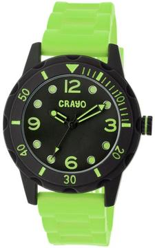 Crayo Splash Collection CRACR2206 Unisex Watch with Silicone Strap