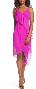 Chelsea28 Women's Asymmetrical Faux Wrap Dress