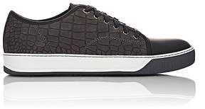 Lanvin Men's Crocodile-Stamped Nubuck Sneakers