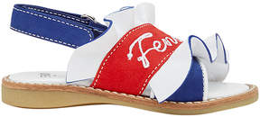 Fendi color block logo sandals