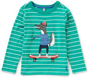 Joules Little Boys 3-6 Striped Wolf Sweater