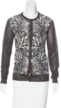 Emma Cook Metallic Knit Cardigan