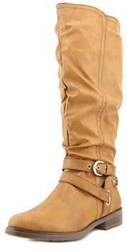 XOXO Martin Wide Calf Women Round Toe Synthetic Tan Knee High Boot.