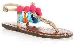 Sam Edelman Girls' Gigi Bohemian T-Strap Thong Sandals - Toddler, Little Kid, Big Kid