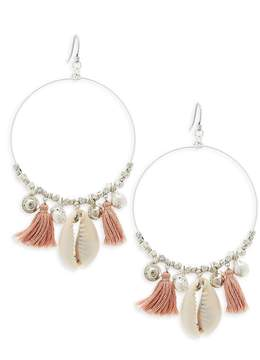 Chan Luu Women's Sterling Silver Tassel Hoop Earrings