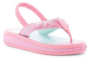 Skechers Sunshines Beach Chic Light-Up Flip Flop (Toddler)