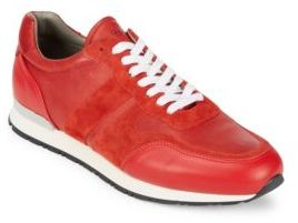 Canali Lace-Up Leather Sneakers