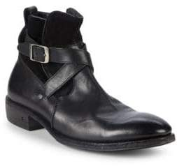 John Varvatos Keith Strap Leather Boots