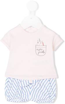 Little Marc Jacobs T-shirt and striped shorts