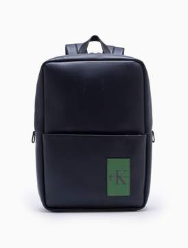 Calvin Klein monogram logo natural grain backpack