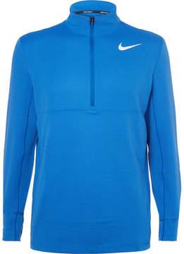 Nike Aeroreact Slim-Fit Stretch-Knit Half-Zip Golf Top