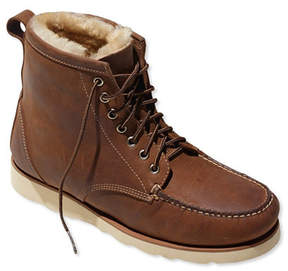 L.L. Bean Signature Country Walker, Shearling-Lined Oxford Shoes
