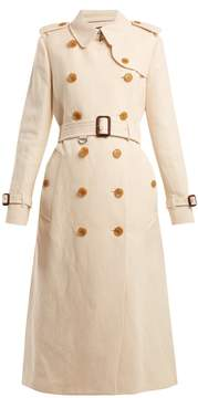 Burberry Kelvedon belted cotton and linen-blend trench coat