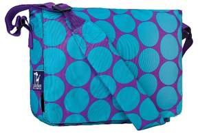 Wildkin Big Dot Kickstart Messenger Bag - Aqua