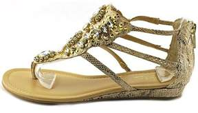 Thalia Sodi Womens Lila Fabric Split Toe Casual Gladiator Sandals.