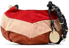 See by Chloe Leather-Trimmed Color-Block Suede Shoulder Bag