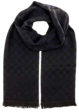 Versace It00628 Marino Navy Blue 100% Wool Mens Scarf.