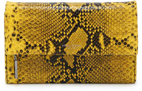 Henri Bendel Girls Night Out Embossed Snake Clutch