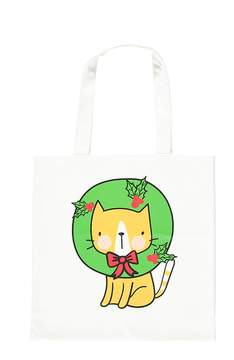 Forever 21 Wreath Cat Tote Bag