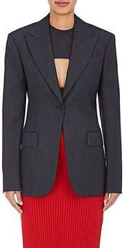 Calvin Klein Women's Checked Wool One-Button Jacket