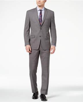 Andrew Marc Men's Classic-Fit Stretch Medium Gray Windowpane Suit