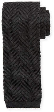 Tom Ford Textured Houndstooth Knit Tie