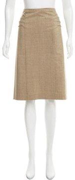 David Meister Metallic Knee-Length Skirt