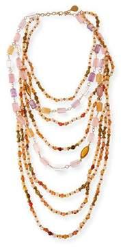 Devon Leigh Beaded Quartz, Amethyst & Citrine Multi-Strand Necklace