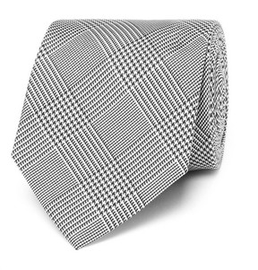 Drakes Drake's Easyday 7cm Prince Of Wales Checked Silk Tie