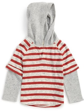 Tucker + Tate Infant Boy's Hooded Raglan Layered T-Shirt