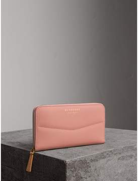 Burberry Two-tone Trench Leather Ziparound Wallet