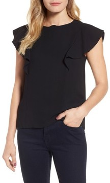 Draper James Women's Solid Ruffle Top