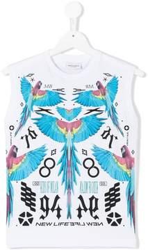 Marcelo Burlon County of Milan Kids macaw print sleeveless top
