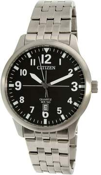 Citizen Men's BI1050-81F Silver Stainless-Steel Plated Japanese Quartz Dress Watch