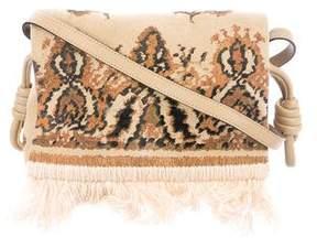 Loewe Flamenco Tapestry Suede Crossbody Bag