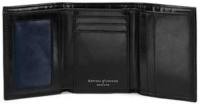 Aspinal of London Trifold Wallet In Smooth Black