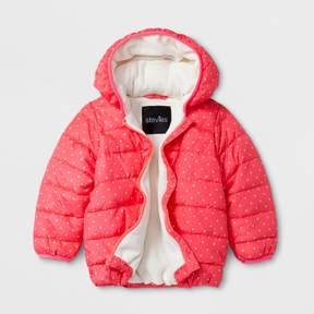 Stevies Toddler Girls' Puffer Jacket - Coral
