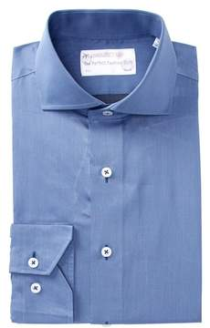 Lorenzo Uomo Woven Solid Trim Fit Dress Shirt