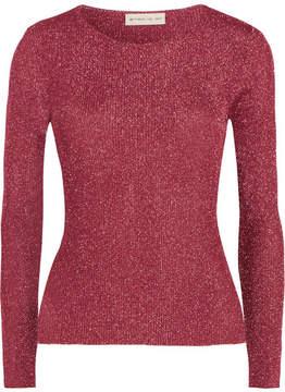 Etro Metallic Ribbed-knit Top - Pink