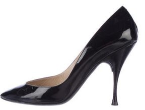 John Galliano Patent Leather Pointed-Toe Pumps