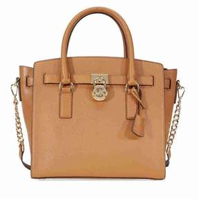 Michael Kors Hamilton Large Pebbled Leather Satchel- Acorn - ACORN - STYLE