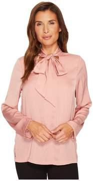 Bobeau B Collection by Alaia Floral Tie Neck Blouse Women's Blouse